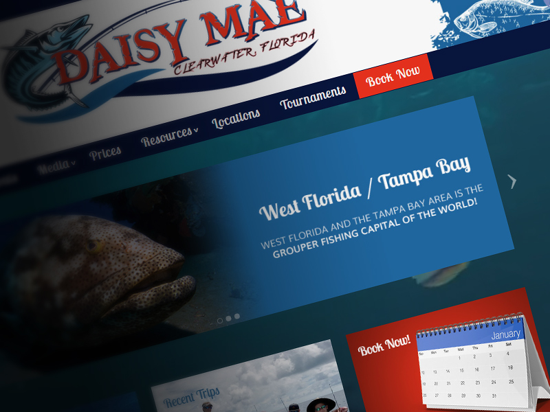 Daisy Mae Fishing Charter Website